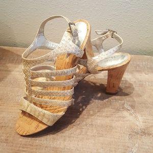 Cork Heel Sandal